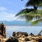 View of Koh Phangan, direct on the ocean.
