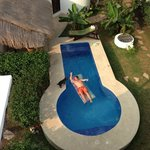 the pool at Tamarindo Apartments, Cozumel