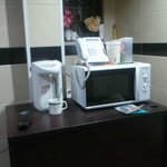 microwave and kettle