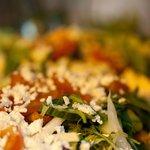 Salads with parmesan