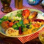 Mediterranean platter from the buffet
