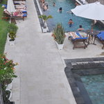 birds eye view of the pool