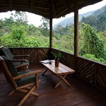 Private terrace overlooking Bwindi NP