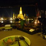 wat arun pagoda view from my table