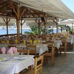 You will enjoy your food in a friendly environment with an amazing sea view