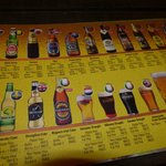 Beers on offer at Porkies which is close by