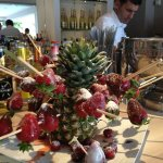 fruit scultpure on the bar