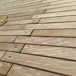 Dear hotel owner.. removing these bolts has turned your deck into a drum kit!  not relaxing!
