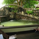 Our natural pool will help you cool off during hot days.