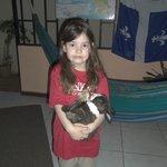 hugging the bunny