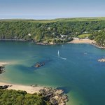 Arial view of South Sands, Salcombe