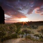 L'alba dall'hotel Sangallo