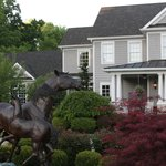 Don't miss the bronze horses in front