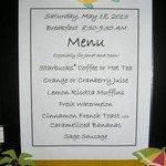 Personalized breakfast menu updated daily