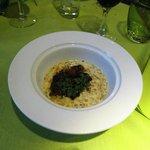 foie gras de canard aux lentilles corail