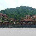 Blick auf das Resort vom Strand
