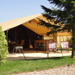 Come glamping in our safari tent