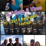 Friends enjoying the Bacchanal Festival
