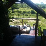 Our private decking area overlooking the watering hole