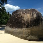 when you see this huge rock you have reached cool bar