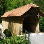 Wooden bridge on trail, short walk from entrance