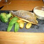 Daurade et petits légumes