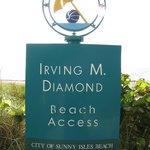 Ingang nabij gelegen strand.