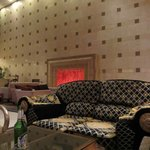 lobby chimney couch