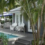 One of the bungalows that shares a pool