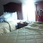 Two queen beds, my son loved having his own big bed. :)