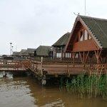 Benachbarte See-Häuschen