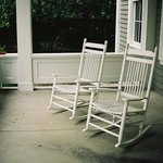 Front porch rocking chairs at Clark House