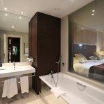 Large bath with tub