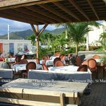 Outdoor Dining Area at the Stone Simpson Bay Marina