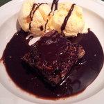 Brownie. con helado