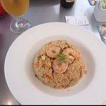 Combination Fried Rice with an Arnold Palmer(Tea & Lemonade)