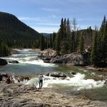 Top of Elbow Falls & upstream...
