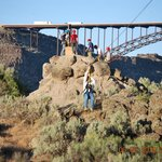 Beautiful scenery as you zip line along the Snake River Canyon!