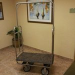 The luggage-cart is beyond salvage. Terribly!