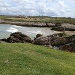 Playa de la Virgen del Mar desde la isla
