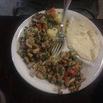 Hummus and Med. Chicken salad