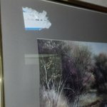 Auction Sticker from when they bought this beautiful art. Really? Can't scrape that off?