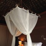 Bed with canopy. Perfect honeymoon bed
