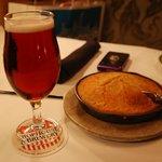 Cherry blossom brew + pan cornbread