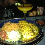 delicious burritos and mango cocktail