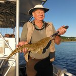 Ross caught this 58cm Flathead drifting at the river mouth.