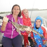 Hansa with a 50cm Flathead caught in Weyba Creek