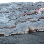 Lava hike - walked out to flowing lava