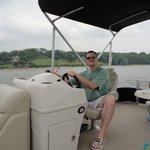 Hubby crusin on nice boat