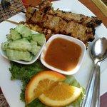 Pork & chicken satay